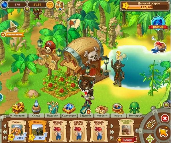 Игра Пираты на Одноклассниках