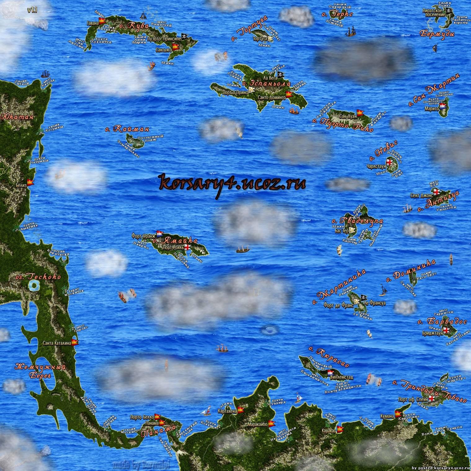 Корсары 3 Город Потерянных Кораблей Карта Мира