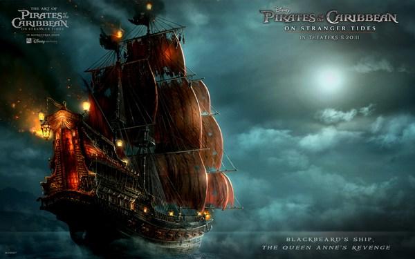Концепт-арт корабля Месть Королевы Анны