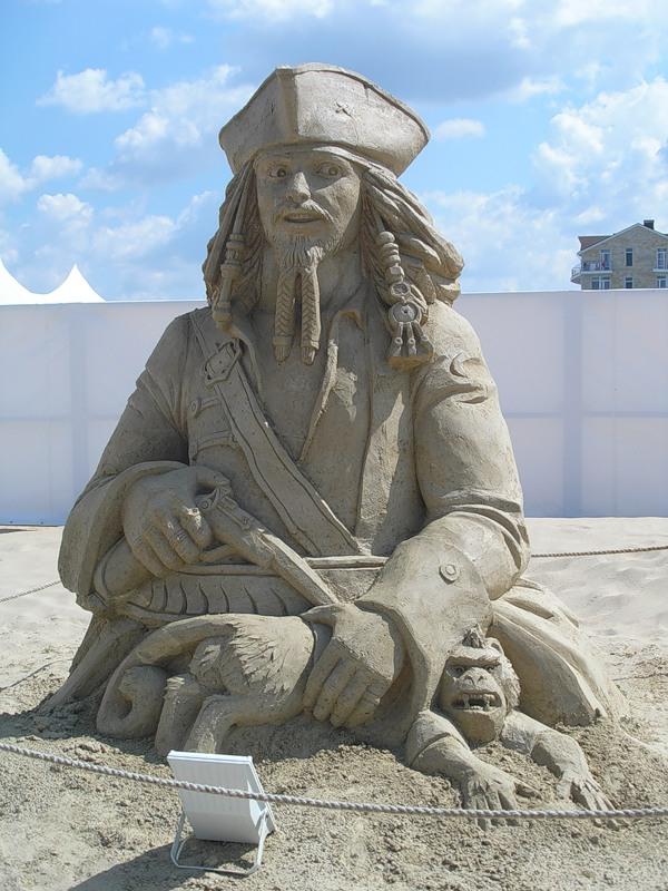 Песочный Капитан Джек Воробей