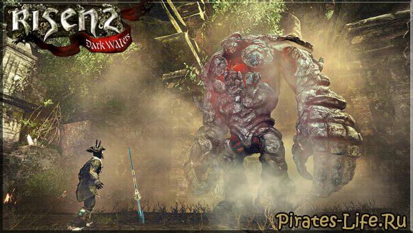 Битва с Каменным Титаном в Risen 2